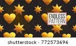 gold polygonal shape  magic... | Shutterstock .eps vector #772573696