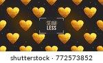 gold polygonal shape  golden... | Shutterstock .eps vector #772573852