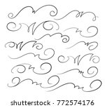 set design elements. vector... | Shutterstock .eps vector #772574176