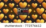 gold polygonal shape  rhombus ... | Shutterstock .eps vector #772576612