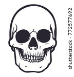 cartoon vector skull | Shutterstock .eps vector #772577692