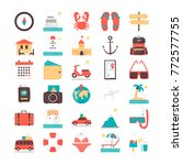 icon set. time to travel ... | Shutterstock .eps vector #772577755