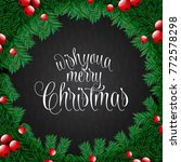 christmas greetings stylish... | Shutterstock .eps vector #772578298