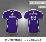 t shirt sport design front and... | Shutterstock .eps vector #772581385
