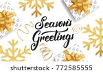 christmas. background for... | Shutterstock .eps vector #772585555