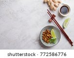 fried insects  wood worm insect ...   Shutterstock . vector #772586776