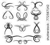 decorative  calligraphic... | Shutterstock .eps vector #772587142