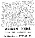 set of wedding illustration... | Shutterstock .eps vector #772587175