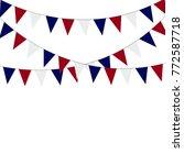 russian flag festive bunting... | Shutterstock .eps vector #772587718