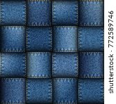jeans patchwork background....
