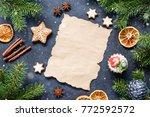 christmas letter  wish list or... | Shutterstock . vector #772592572