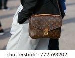 milan   september 23  woman...   Shutterstock . vector #772593202