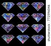 watercolor galaxy crystal...   Shutterstock . vector #772596046