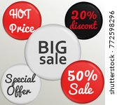 set of glossy sale buttons or... | Shutterstock .eps vector #772598296