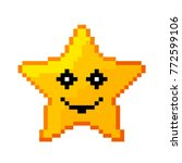 icon of the pixel star.... | Shutterstock .eps vector #772599106