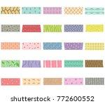 vector illustration set of cute ... | Shutterstock .eps vector #772600552