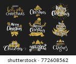 merry christmas and happy new... | Shutterstock .eps vector #772608562