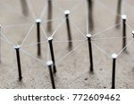 linking entities. network ...   Shutterstock . vector #772609462