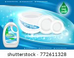 dishwashing liquid products ad. ... | Shutterstock . vector #772611328