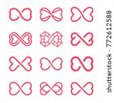 Infinity Symbol With Two Hearts ...