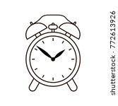 alarm clock symbol on white...   Shutterstock .eps vector #772613926