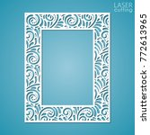 laser cut paper lace frame ... | Shutterstock .eps vector #772613965