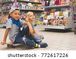 little brother and sister... | Shutterstock . vector #772617226