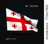 georgia 3d style glowing flag... | Shutterstock .eps vector #772617802