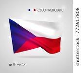 czech republic 3d style glowing ... | Shutterstock .eps vector #772617808