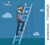 ladders to the clouds vector... | Shutterstock .eps vector #772618525