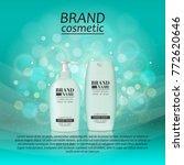 3d realistic cosmetic bottle... | Shutterstock .eps vector #772620646