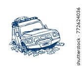 off road suv car logo emblem ... | Shutterstock .eps vector #772624036