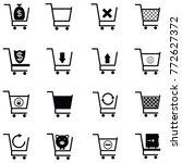 shopping car icon set | Shutterstock .eps vector #772627372