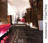3d render of working space | Shutterstock . vector #772627942
