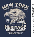tee print design with eagle... | Shutterstock .eps vector #772628812