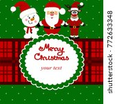 christmas card. funny postcard... | Shutterstock .eps vector #772633348