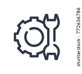 service icon. isolated repair... | Shutterstock .eps vector #772636786