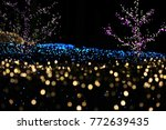 blur focus of light on black... | Shutterstock . vector #772639435