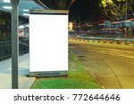 blank white mock up of vertical ... | Shutterstock . vector #772644646