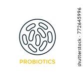 probiotics bacteria linear icon | Shutterstock .eps vector #772645996