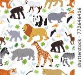 seamless vector pattern from... | Shutterstock .eps vector #772646416