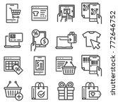 liner online shopping  e... | Shutterstock .eps vector #772646752