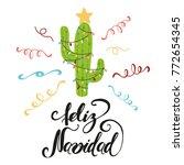 merry christmas banner. happy... | Shutterstock .eps vector #772654345
