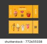coupon fast food. gift voucher... | Shutterstock .eps vector #772655338