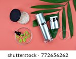 cosmetic bottle containers with ... | Shutterstock . vector #772656262