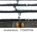 traces of tires and shoes in... | Shutterstock . vector #772659706