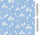 scandinavian deers seamless...   Shutterstock .eps vector #772659928