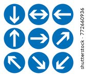 set of direction signs. blue... | Shutterstock .eps vector #772660936