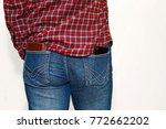 male person in checkered... | Shutterstock . vector #772662202