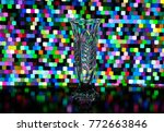 glass transparent vase on a